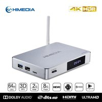 al por mayor q5 wifi-HiMedia Q5 PRO A53 Quad Core de 64 bits Android 5.1 TV Box 3D 4K Uitra HD 2 GB / 8 GB Bluetooth 2.4G / 5G WiFi Soporte 7.1 DTS Dolby