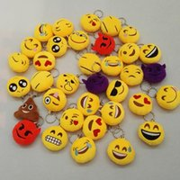 Wholesale 2inch New cm Emoji Pendant Keychain Emoji Poo Stuffed Plush Toys for backpack Mobile Pendant