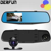 Cámaras de lentes de porcelana España-Full HD 1080p coche cámara grabadora de coches DVR estacionamiento visión nocturna lente dual 4.3 pulgadas 32 g