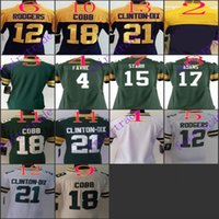 adams men - Women NIK Game Football Packers Blank Favre Rodgers Starr Adams Cobb Clinton Dix Green White Blue Jerseys Mix Order