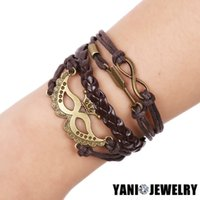 african masks animals - Fashion Jewelry Leather Bracelet Double Infinite Brown Mask Multilayer Bracelet For Women Men