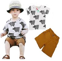 arrow pictures - Baby Boys Clothes Summer Kids Sets Pant T shirt Children Clothing Kid Suit Cotton arrow picture Boys set