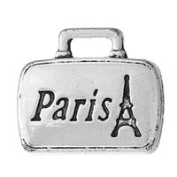 antique silver london - Charm Pendants Bag Antique Silver Message Pattern quot PARIS LONDON quot mm quot x mm quot new