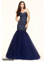 beaded nails - Prom Dresses Shiny Crystal Nail Bead Mermaid Prom Dress The royal blue Sweetheart Party Floor Length Evening Dress