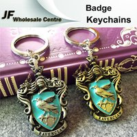 Wholesale Fashion Harry Potter Gryffindor Slytherin Badge Keychains Bag Accessories Metal Key Chain Ring Pendant Keychain