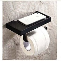 Wholesale And Retail Promotion Modern Square Oil Rubbed Bronze Wall Mounted Toilet Paper Holder Tissue Hanger