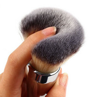 Wholesale TOP Quality New Ulta Silver Metal Handle Synthetic Hair It NO Loose Powder Makeup Brushes