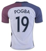 Wholesale Whosales Discount Soccer Jerseys Euro Cup Thai Quality Customized Soccer Shirts Away Soccer Jerseys WeaR