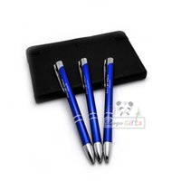 Wholesale Hot selling quality metallic pens ball pen a diy gifts for birthdays party custom with your text and artwork