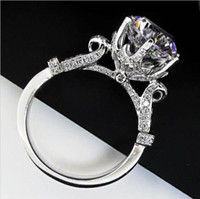 american levels - Fashion Women Gift ct AAA CZ Level CZ Ring Solid Sterling Silver Jewelry Brand Wedding Ring Flower Crown Design