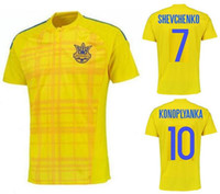 ukraine - Thai Quality Ukraine Jersey Soccer National Team SHEVCHENKO Football Shirt Uniform KONOPLYANKA SELEZNYOV KRAVETS GUSEV