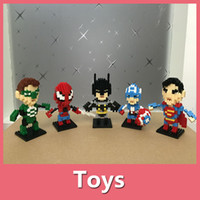 america box set - Minifigure Super Heroes The Avengers Batman Superman Miky Captain America Building Blocks Sets Minifigure DIY Bricks Toys With Pakege Box