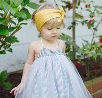 2017 Summer Girl Girl Slip Striped Backless Lace Tutu Robe Enfant Toddler Princesse Enfants Pettiskirt Bubble Suspender Croix Robe Couche
