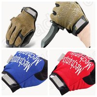 Wholesale 50PCS MMA24 Winter Outdoor Full Finger Motocycel Bicycle Mittens Mechanics Super General Edition Army Military Tactical Gloves