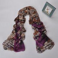 Подарок способа вискоза старинные стены кирпич живописи реактивная крашения платки и шали шарф женщин 180 * 90см пашмины платок XS-010