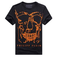 Wholesale 2016 Germany Brand PP mens cotton o neck printing skulls short sleeve T shirt comfort fashion casual Tee NWT