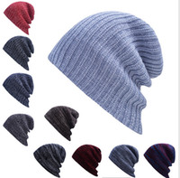 adult novelty candy - colors Candy Winter Trendy Warm Hat Simple Style Chunky Soft Stretch Cable Men Knitted Beanie Hat Beanie Skully Hats