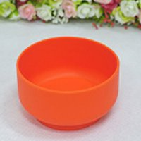 Wholesale Food Grade Silicone Round Orange durable Rice Bowl Simple Fashion Silicone Bowl Children Bowl Adult Bowl