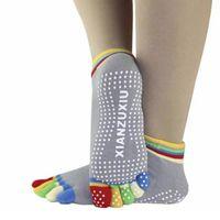 Wholesale Summer Toe Socks Women Colorful Non Slip Massage Toe Socks Full Grip Meias Feminina Calcetines Amazing June