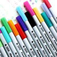 Wholesale NEW Colors mm color Signature pen Lovely color pens school office supplies