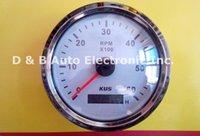 automobile revolution - 1pc KUS Tachometer White Revolution Meter RPM V For Boat Automobile Motor Homes Universal