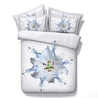 Cheap 3d 5pcs human skull mermaid beach scenic flower bedding set with filling twin full queen king super king size free shipping
