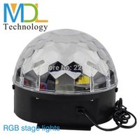 Wholesale Beensom Channel DMX Stage Light RGB LED Disco Party Music Crystal Disco Ball Stage Effect Light With USB Disk Remote Control