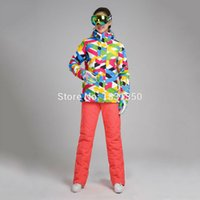 Wholesale Best quality Women Ski Jacket Ski Pants Breathable and Waterproof Winter Lady Ski Suit Snowboard