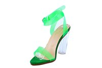 aa transparent crystals - 2016 Women Sandals Fashion PeepToe Crystal High Heel Transparent PVC Women Sandals Trend Clear High Heel Shoes