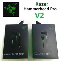 headphone pro - 2016 Latest Razer Hammerhead Pro V2 Headphone in ear Noodle earphone With Microphone With Retail Box In Ear Gaming headsets mm