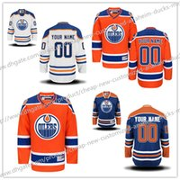 Cheap Cheap Custom NEW Edmonton Oilers Men's Women Kids High Quality Customized Home Hockey jersey Free shipping