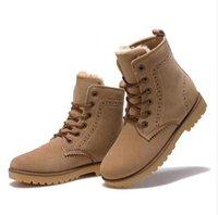 Wholesale High Quality Women Boots Winter Casual Brand Warm Shoes Men Unisex Men Boots Leather Plush Fur Fashion Boots Shoes Woman