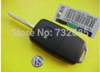 Wholesale VW Folding Flip Remote Key Cover Button Volkswagen Replacement Key Shell Blanks Buttons car