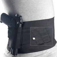 Cheap Tactical Elastic Waist Concealed Carry Holster Belly Band Pistol Gun Holster 2 Magzine Pouches Elastic For Glock 23 Sig 226