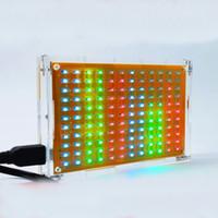 Wholesale LED music spectrum display level indicator model DIY Kit with case spectrum Light cube electronic training DIY gift
