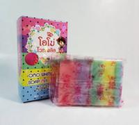 Wholesale OMO White Plus Soap Five Bleached White Skin Gluta Rainbow Soap Handmade Soap For Bath Body JJD0146