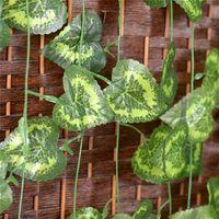 begonia skies - 12 cm Leaves Rattan Begonia Leaf Rattan Leaves Wedding Decoration Christmas For Home Flowers