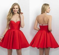 big apple art - Big Red Stain Short Mini Party Dresses New Sweetheart Beaded With Necked Ruched Homecoming Dresses For Special Occasion Dresses Custom