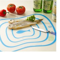 plastic board cutting board - Matte Transparent Chopping Blocks Kitchen Chopping Board Baking Dough Tool Fruit Vegetable Anti slip Plastic Cutting Boards WA0543