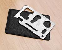 Wholesale 11 function in card knife Stainless Steel Multi Function Emergency Survival Card Pocket Knife Best CampTool