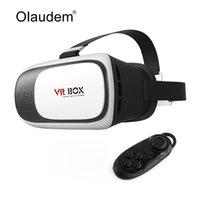 Wholesale VR Glasses Google Cardboard Virtual Reality D Glasses VR Box Version Headset Bluetooth Remote Controller VR119