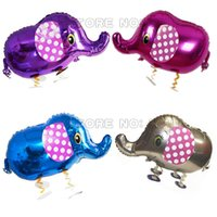 baby elephant walk - New arrival walking animals pet balloon walking elephant balloons multicolor elephant walking balloons baby toy