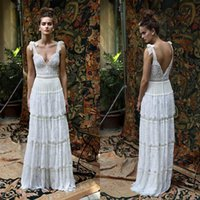 best black skirt - 2016 Lace Beach Wedding Dresses Spaghetti Neck Sleeveless Beads Backless Wedding Gowns Vintage Lili Hod Tiered Best Selling Bridal Dress