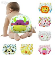 Wholesale New kawaii animal patterns potty training pants for baby boy cute briefs newborn underwear panties years
