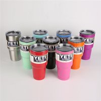 Wholesale YETI oz Stainless Tumbler oz Rambler Cups Yeti Coolers Cup Yeti Sports Mugs Large Capacity Stainless Steel Travel Mu
