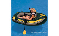 Wholesale INTEX Seahawk single person inflatable boat x108x38cm fishing boat kayak plastic boat