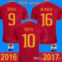 Wholesale New Roman Jersey Red white DZEKO Soccer SHIRT maillots de foot TOTTI Camisetas de Futbol