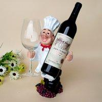Chef personnalisé ornements en résine casier à vin pendaison gens créatifs Porte-bouteille de vin étagère vin stand rack verre
