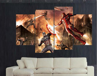 Wholesale Captain America Civil War superhero film movie poster home decor wall art picture children wall decor print Painting on Canvas