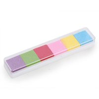 baby safe ink - TFBC Light Color Ink Pad Inkpad Rubber Stamp Finger Print Craft Non Toxic Baby Safe